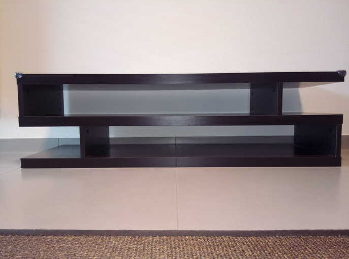 Large TV table with shelfs
