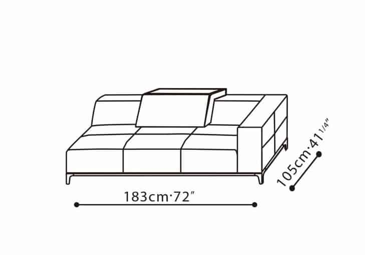 Black Leather Couch CAMERICH